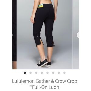 Lululemon Gather & Crow Crop